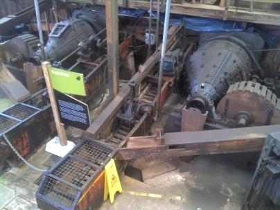 Ore-crushing machines.
