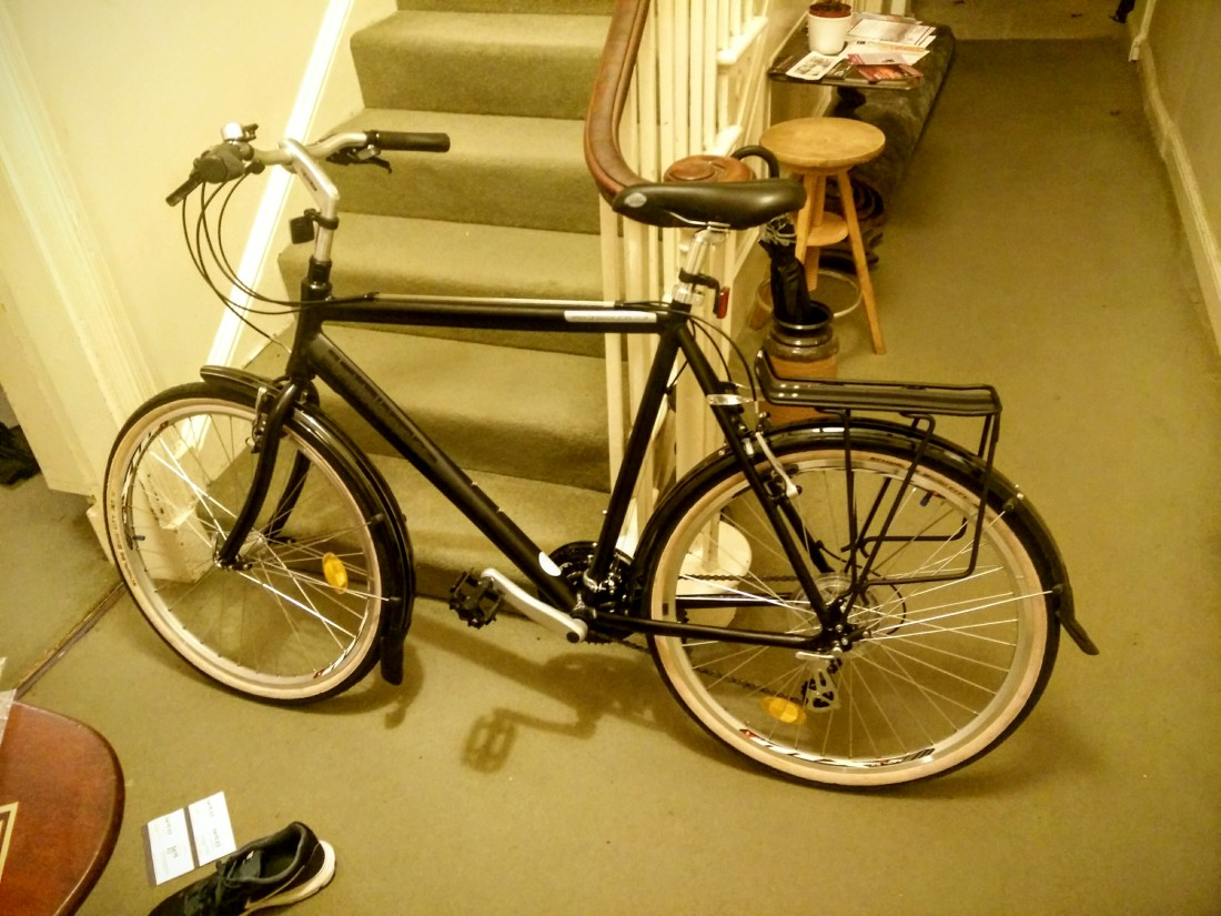 The new toy, now with mudguards and pannier rack