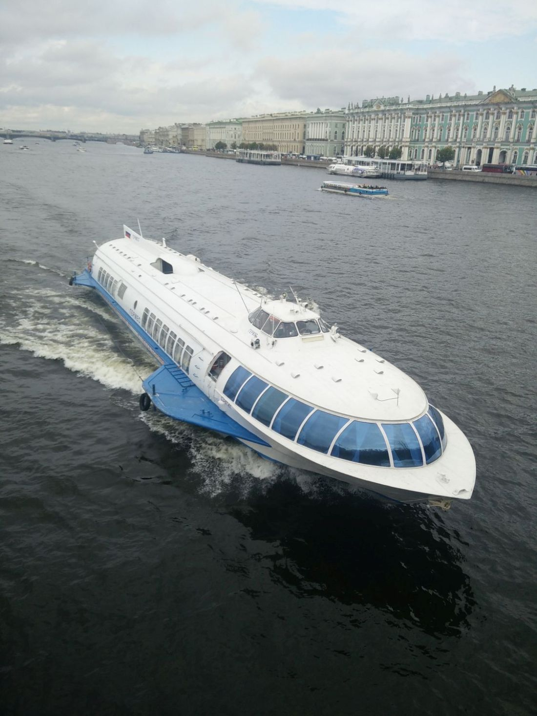 Hydrofoil. (Winter Palace in the background.)